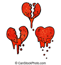 blöda hjärta, symboler