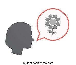 blühen kopf, freigestellt, weibliche