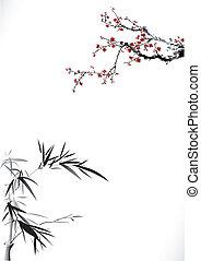 blüte, bambus