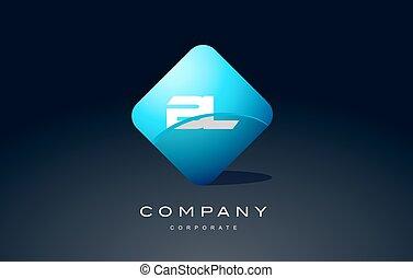 bl alphabet blue hexagon letter logo vector icon design - bl...