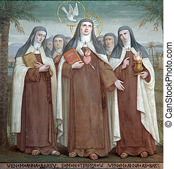 Bl. Anne of Jesus, Saint Teresa of Avila and Bl. Anne of St....