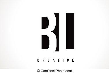 BL B L White Letter Logo Design with Black Square. - BL B L...