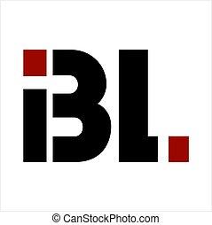 bl, companhia, letra, logotipo, ibl, iniciais