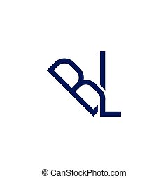 BL Initial Letter Linked logo icon vector