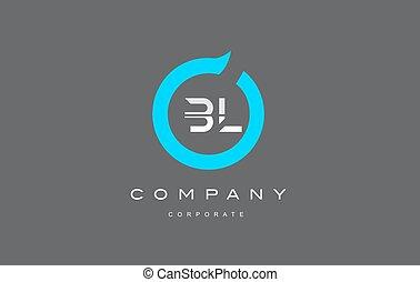 BL letter combination alphabet logo vector design - BL...