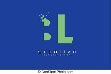 BL Letter Logo Design With Negative Space Concept. - BL...
