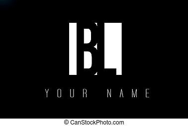 BL Letter Logo With Black and White Negative Space Design. -...