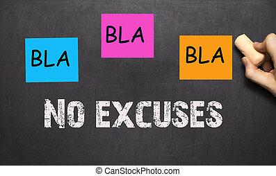 bla, bla, bla, -, nee, verontschuldigingen, -, workout, motivatie, op, een, bord