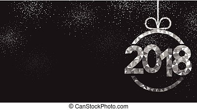 Black 2018 New Year background. - Black 2018 New Year...