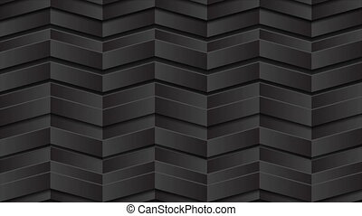 Black 3d geometric shapes abstract tech motion animated background