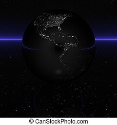 black 3D globe