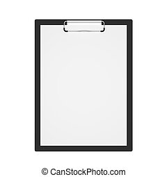 Black 3d illustration clipboard isolated on white