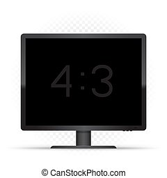 black 4 to 3 computer monitor