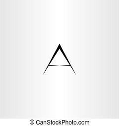 black a letter icon sign vector design