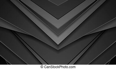 Black abstract arrows technology video animation
