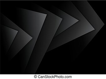 Black Abstract Background with Dark Layers