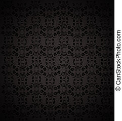 black abstract background with floral texture