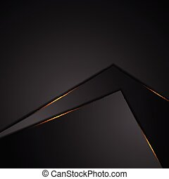 Black abstract background with orange glowing light