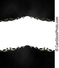 Black abstract background with white cut out. Design...