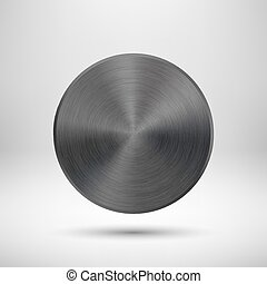 Black Abstract Circle Button with M