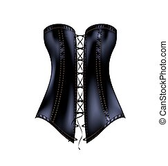 black abstract corset