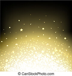 Black Abstract Dark Background With Stars, Vector...