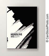 Black abstract design.