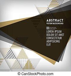 black , abstract, driehoeksvorm, achtergrond