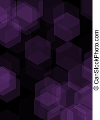 Black abstract geometric background formed with colored hexagons in rows