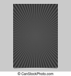 Black abstract geometrical starburst brochure cover template - vector document background graphic