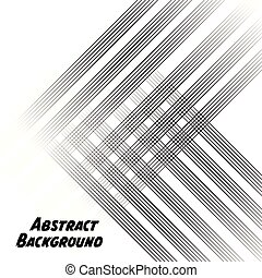 Black Abstract Lines White Background Vector Image