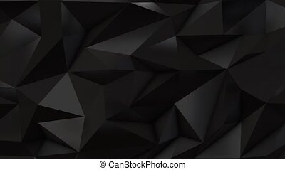 Black abstract low poly triangle background