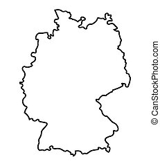 Clip Art Vector Of Germany Silhouette Abstract On White Csp - Germany map clipart