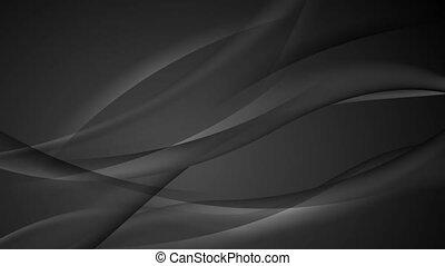 Black abstract modern wavy video animation - Black abstract...