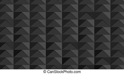 Black abstract polygonal mosaic tech motion background - ...