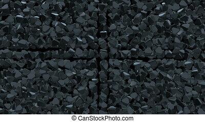 Abstract pyramid geometric surface. - Black Abstract pyramid...