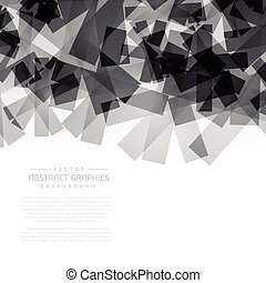 black abstract shapes background
