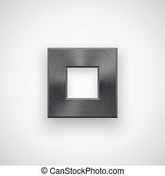 Black abstract Square Button