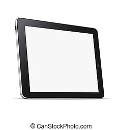 Black abstract tablet computer (pc) isolated on white
