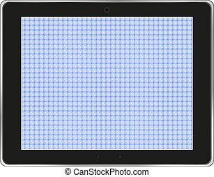 Black abstract tablet computer (tablet pc) on white background