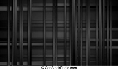 Black abstract tech stripes video animation - Black abstract...