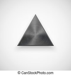 Black Abstract Triangle Button