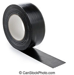 adhesive tape - black adhesive tape on light background. ...