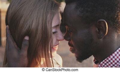 Black African man and white girl. Inter-ethnic love - Black...