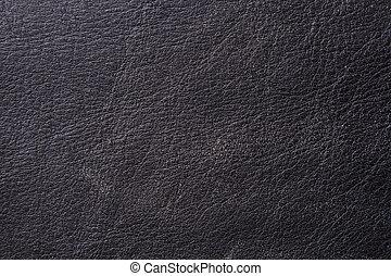 Black Aged Leather
