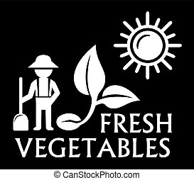 black agriculture symbol