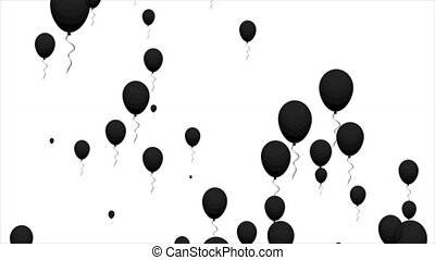 black air balloons on a white background