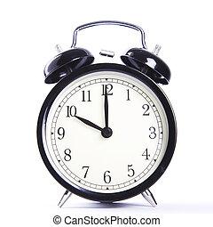 alarm clock - black alarm clock at ten o'clock