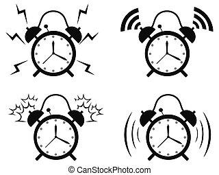 black alarm clock icon