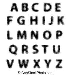 Black Alphabet Isolated